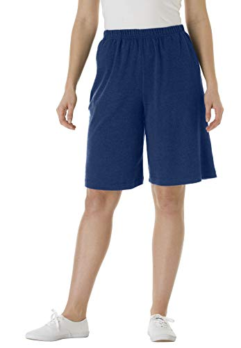 Woman Within Plus Size 7-Day Knit Short - Navy, 1X