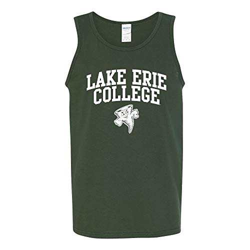 UGP Campus Apparel AT03 - Lake Erie College Storm Arch Logo Tank TOP - 2X-Large - Forest