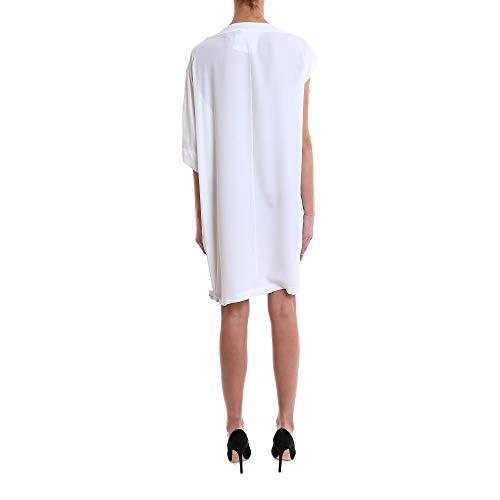 8pm 81a106188 Femme Blanc Robe Acétate z8zawqB