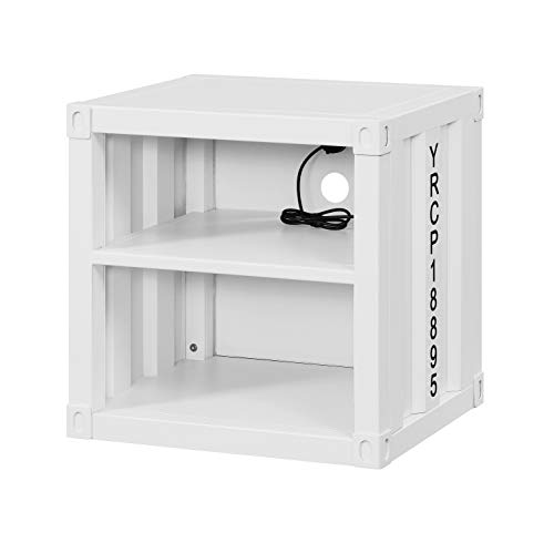 Cargo Brand Furniture: Amazon.com: ACME Furniture Cargo Nightstand, White
