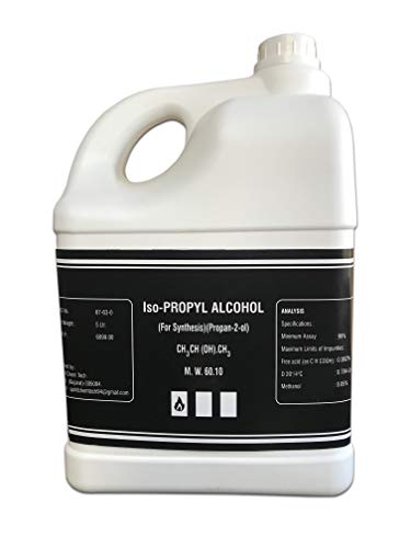 Maxxic Laboratories IPA Iso-Propyl Alcohol 99.9% 5 Ltrs [(CH3)2-CH-OH] CAS: 67-63-0.