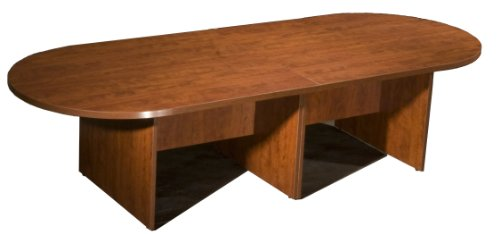 Boss 10Ft Race Track Conference Table, Cherry