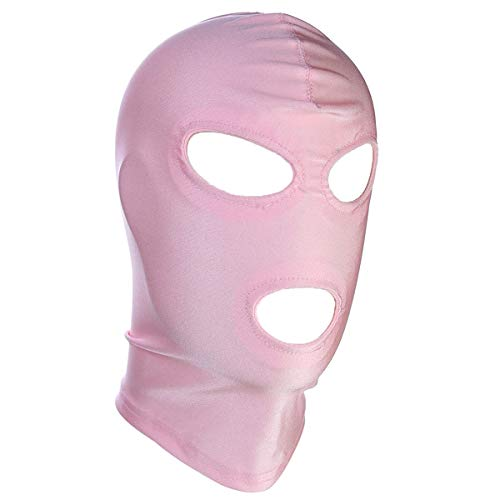 (DERENHER Stretchable Full Face Balaclava Hood Eyes & Mouth Holes Costume Hood Mask for Cosplay)
