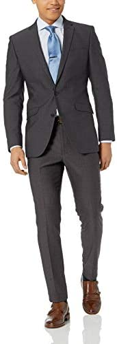 Unlisted by Kenneth Cole Mens 2 Button Slim Fit Suit with Hemmed Pant