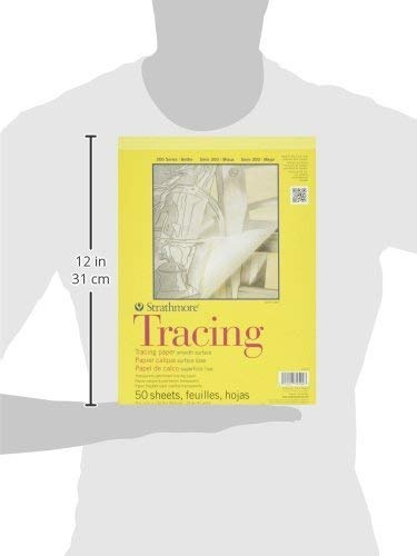 Strathmore 370-9 300 Series Tracing Pad, 9''x12'' Tape Bound, 50 Sheets (Thrее Рack, White) by Strathmore (Image #2)