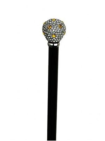 "Formal""Nite Stick"" with crystal crown jewel knob handle."