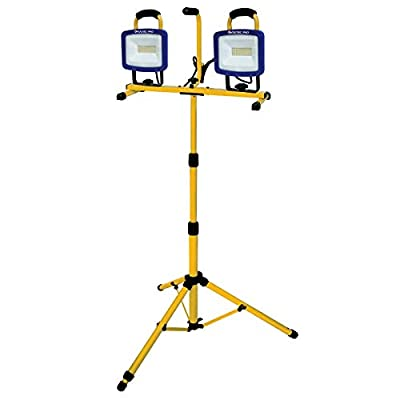 Voltec 08-00728 Dual Tripod LED Work Light, Yellow with Blue face Frame
