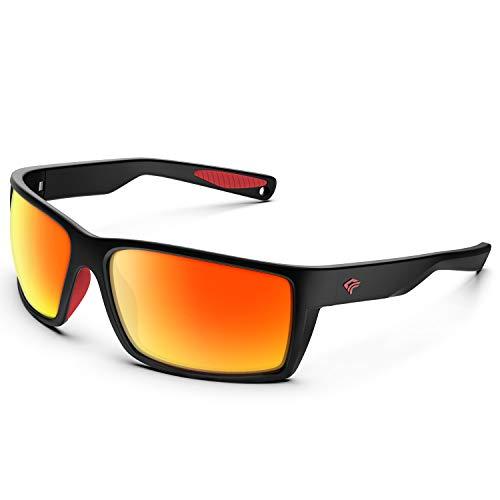 TOREGE Sports Polarized Sunglasses for Men Women Flexible Frame Cycling Running Driving Fishing Trekking Glasses TR24