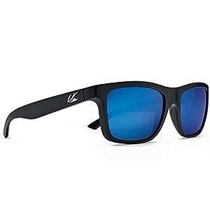 Kaenon Adult Clarke Sunglasses, Matte Black / Pacific Blue, One Size