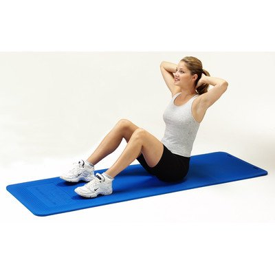 Exercise Mat Size: 1'' H x 24'' W x 75'' D, Color: Blue by TheraBand