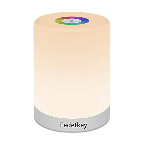 FiDi Tek Lampara LED Luz Nocturna Regulable, Infantil, Diseno de Control Tactil, para Escritorio Recargable y Camping, 2.4 W