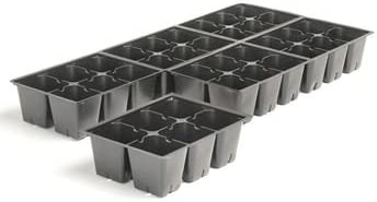 Seed Germination Kit, 2 Seed Trays, 72 Large Cells, 2 Dome Lids