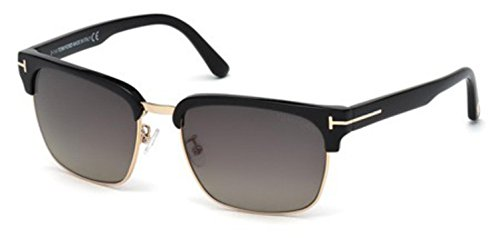 Tom Ford TF367 01D Black River Retro Sunglasses Polarised Lens Category 3 Size