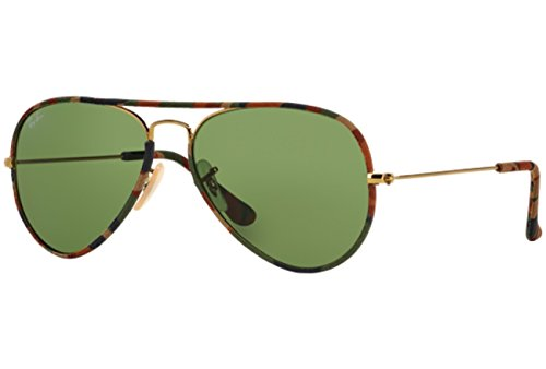 Aviator Ray RB Green Gafas Unisex Sol de NULL NULL Ban 3025 5qrUR1wAq