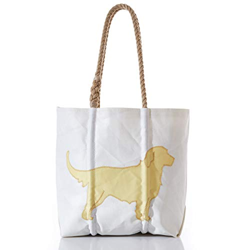 Sea Bags Recycled Sail Cloth Golden Retriever Tote Medium made in New England
