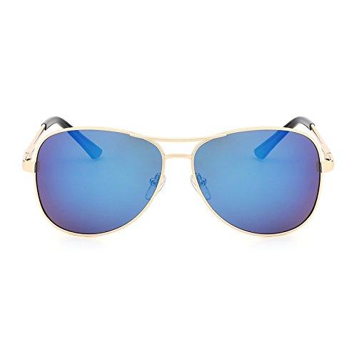 blue Costume Métal Lunettes Conduite Soleil de Classique de polarisées de Lunettes de Lunettes UV400 Pilote Hommes Gold Designer Soleil Protection MY pour qw0F1C