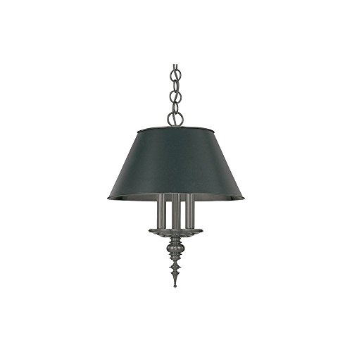 Hudson Valley Lighting 9521-AN Cheshire Collection - Three Light Chandelier, Antique Nickel