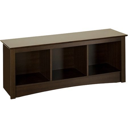 Edenvale Cubbie Bench, Espresso - Prepac Furniture Both Seating and Storage Options
