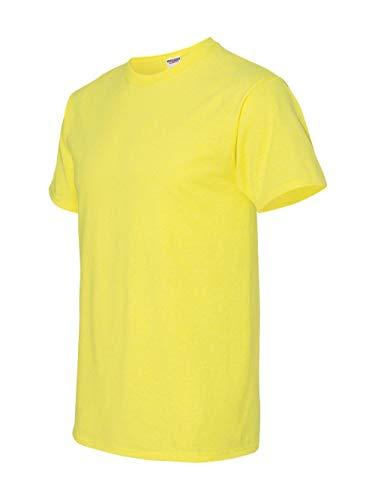 - Jerzees mens 5.6 oz. 50/50 Heavyweight Blend T-Shirt(29m)-NEON PINK-XL