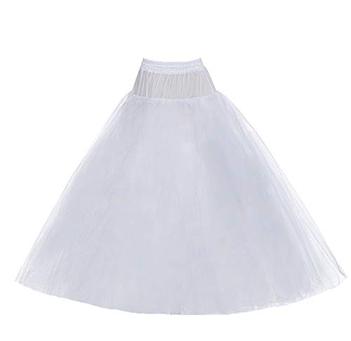 8 Layer Tulle Hoopless Bridal Petticoat Ball Gown Underskirt Crinoline ()