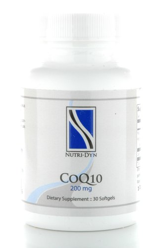 CoQ10 200 mg Highly Absorbable Coenzyme Q10 30 Softgels, by Nutri-Dyn