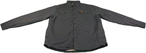 Field & Stream Men's Medium Sherpa-Lined Flannel Shirt Jacket Anchor Gray