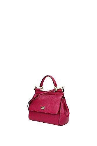 Borse a Mano Dolce&Gabbana Donna Pelle Fuxia e Oro BB6003A100187392 Fuxia 8x16x20 cm