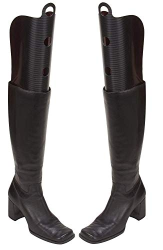 h Tall Boot Shapers Tree Oraganizer Long Thigh Boots Breathable Support Black 3 Pairs ()