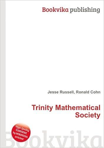 Trinity Mathematical Society: Amazon co uk: Ronald Cohn