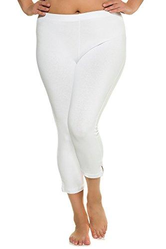 Ulla Popken Women's Plus Size Stretch & Support Cropped Leggings White 20/22 593724 20
