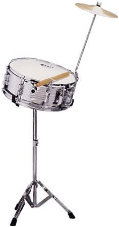 DB Percussion DB0070 - Set banda caja+soportes+platos+baquetas, color cromado: Amazon.es: Instrumentos musicales