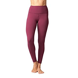 Yogalicious High Waist Ultra Soft Lightweight Leggings -  High Rise Yoga Pants - Cherry Jubilee - XL