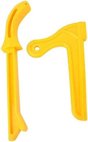 Gelbe Kunststoff-Holzbearbeitung Praktische Push-Block-Handsäge Kunststoff-Push-Sticks-Werkzeugsatz für Holzarbeiter und Verwendung auf Tischsägen, Rout