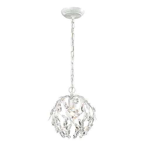 Elk Lighting 18123/1 Circeo Collection 1 Light Mini Pendant, Antique White