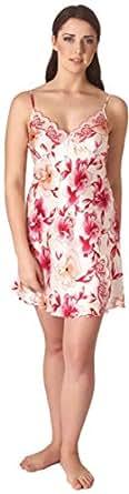 Belweiss Women Pure Silk Monti Liveri Floral Printed Slips