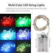 LED String Lights, Lifebee Battery Powered Multi-Color Changing String Light, 16ft Copper Wire Firefly Lights, 50LEDs Fariy Lights with Remote Timer for Indoor Outdoor Patio Garden Christmas Costumes -