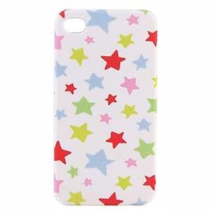 Stylish Star Hard Case for iPhone4G (White)