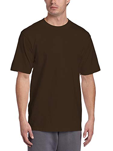 - Hat and Beyond Mens Super Max T Shirt Heavyweight Solid Short Sleeve Tee S-5XL (1ks06_Brown/2X-Large)