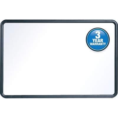 Quartet Contour Whiteboard, 3' x 2' Dry Erase Board, Plastic Frame, Black (7553) ()