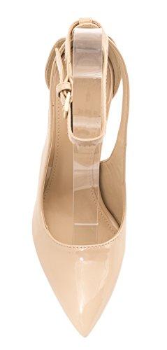 carne Heels Cómodo High stilettos Pumps Elara barniz moderna color Punta wqapwIz