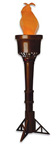 Rhode Island Novelty Olympic Flame Costume Decoration Battery Torch, Brown, 13 Inches ()