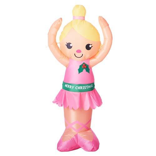 Inflatable Holiday Time Christmas Ballerina 4 feet Tall]()