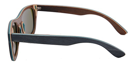 SHINU Handmade Wood Glasses Anti-Glare Polarized Wooden Sunglasses- Z68003 5 NATURAL WOOD-Genuine Wood Bamboo from Sustainable Resources. POLARIZED LENSES-Polarized UV400 Lenses Against Harmful UVA/UVB Rays. HIGH END HANDICRAFTS-Each Frame is Polished and Coated with A Water/Sweat Protective Layer.