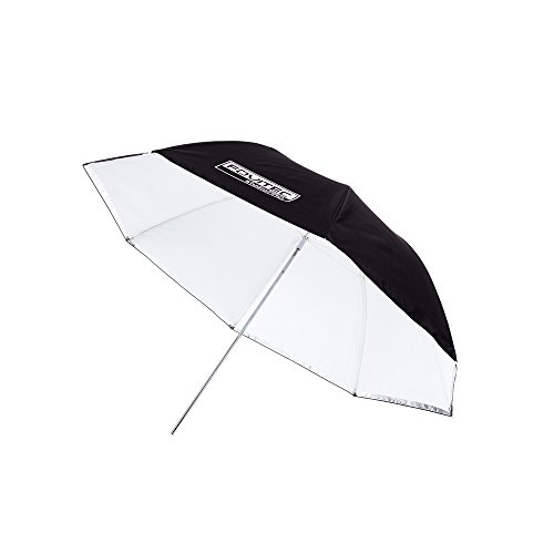 Fovitec - 1x 43 inch White/Translucent Photography & Video Convertible Reflector Umbrella - [Reinforced Fiberglass][Easy Set-up][Collapsible] by Fovitec