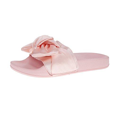 London Footwear - talón abierto mujer Rosa