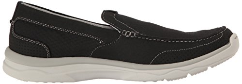 Clarks Men's Marus Step Slip-on Loafer Black Textile gk9TWuSTea