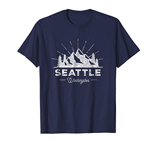 (Seattle Washington WA T Shirt Vintage Hiking Retro Tee)