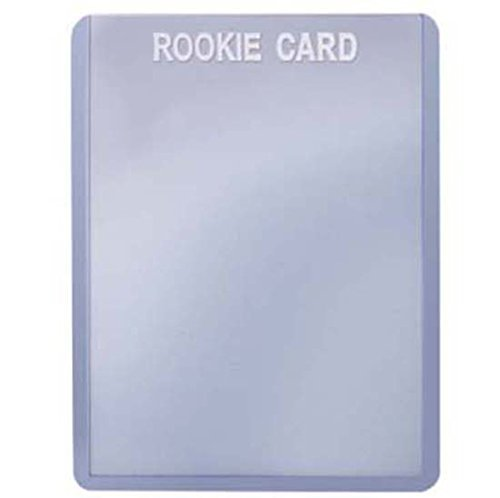 Rookie Card Print - 2 Ultra Pro Regular Top Loader Pack W/white Rookie Foil Print 81356 - 25 Toploaders Per Pack (50 Total) - Standard Size Baseball, Basketball, Football, Hockey