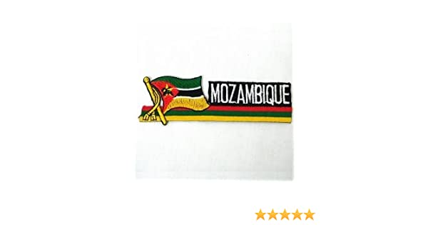 MOZAMBIQUE COUNTRY FLAG IRON-ON PATCH CREST BADGE 1.5 X 2.5 INCH