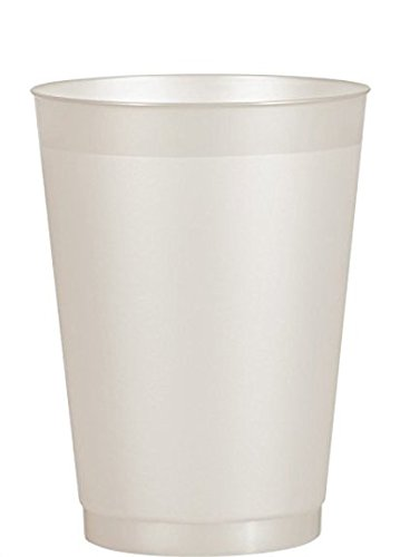 25-Pack Berry Plastics 16-ounce Translucent Frosty Clear Disposable Hard Plastic Tumblers